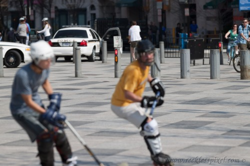 Street Hockey behind the White House.