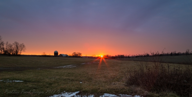 Photographed this sunset while walking the dog on January 1, 2014. 10,000th photo shot on my Canon 6D