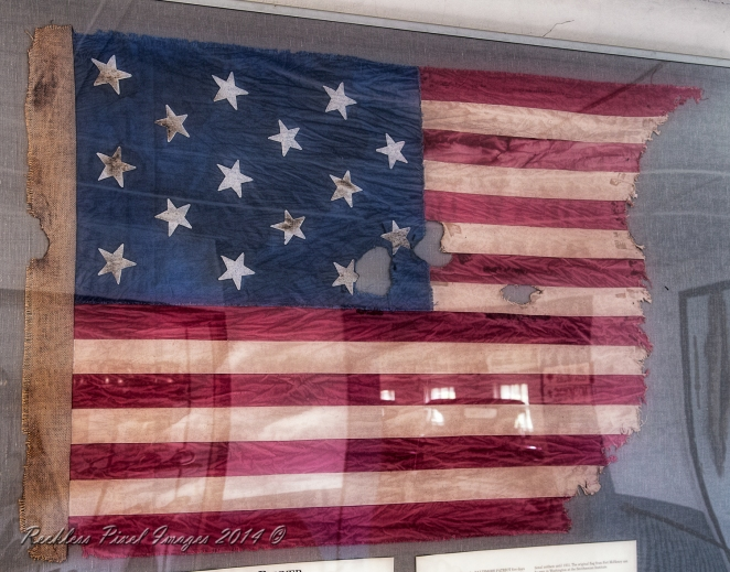 Star Spangled Banner as seen on display at Space Farms Museum in Sussex County New Jersey.