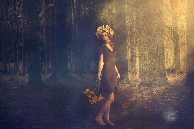 Forest Fog with model Kendall Strampel, makeup by Ambre'  Baxter, dress by designer Zhen Nymph.