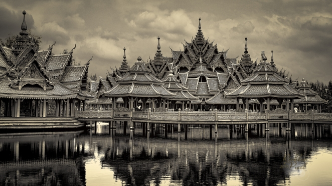Pavilion of The Enlightened located in Ancient Siam City, Bangkok Thailand.