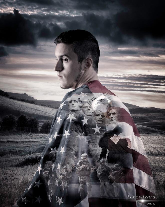 Ryan Flag Over Shoulder